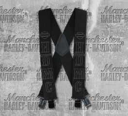 Harley-Davidson® Men's HDMC™ Black Suspenders, Global Products, Inc. SUS2767