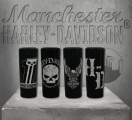 Harley-Davidson® Dark Custom Ceramic Shot Glasses, Global Products, Inc. SG25288