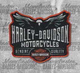 Harley-Davidson® Embroidered Velocity Eagle Emblem Patch, Global Products, Inc. EM326642