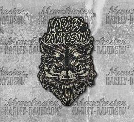Harley-Davidson® Embroidered Night Wolf Emblem Patch, Global Products, Inc. EM273806