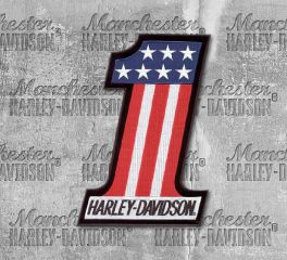 Harley-Davidson® Small No. 1 Embroidered American Flag Patch, Global Products, Inc. EM227842