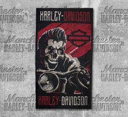 Harley-Davidson® Men's Rockabilly Skull Black Polyester Multifunctional Headwear MHW27481