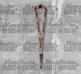 Harley-Davidson® Reflective Safety Orange Double Sided Lanyard, Global Products, Inc. LY21773