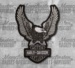 Harley-Davidson® Large Embroidered Reflective Up-Wing Eagle Emblem, Global Products, Inc. EM328754