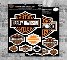 Harley-Davidson® Bar & Shield® Inside or Outside Window Cling, Global Products, Inc. DW302