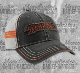 Harley-Davidson® Men's Embroidered Raw-Edge Restored Baseball Cap, Global Products, Inc. BCC29880
