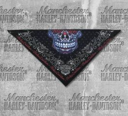 Harley-Davidson® Women's 3 in 1 Muertos Skull Fleece Bandana, Global Products, Inc. BAC30084