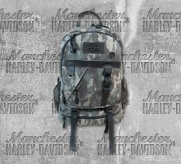 Harley-Davidson® Camo Print Canvas Bar & Shield® Utility Backpack, Leather Accessory Source MC2719S