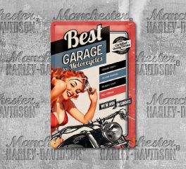 Harley-Davidson® Best Garage Tin Sign, Nostalgic Art 22181