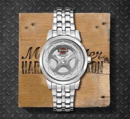 Harley-Davidson® Women's Bulova Crystal Bracelet Wrist Watch, Bulova UK Ltd. 76L160