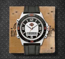 Harley-Davidson® Men's Bulova Chronograph Wrist Watch, Bulova UK Ltd. 78C104