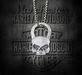 Harley-Davidson® Skull Stainless Steel Pendant, Silver Studio Co. Ltd. STP004