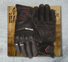 Harley-Davidson® Men's Black Biltmore Full Finger Gloves 97125-19EM