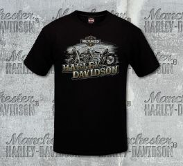 Harley-Davidson® Men's Progression Black Short Sleeve Tee, RK Stratman Inc. R002895