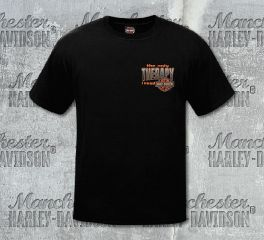 Harley-Davidson® Men's Therapy Black Short Sleeve Tee, RK Stratman Inc. R002899