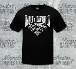 Harley-Davidson® Men's MC Script Black Short Sleeve Tee, RK Stratman Inc. R002903