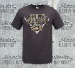Harley-Davidson® Men's H-D® Brown Short Sleeve Tee, RK Stratman Inc. R002908