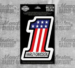 Harley-Davidson® Extra Large American Style Number 1 Decal Sticker, Global Products, Inc. DC227845