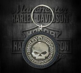 Harley-Davidson® Willie G Skull Hubcap Keychain, Global Products, Inc. KY102975
