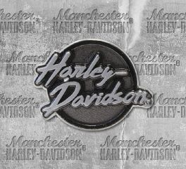 Harley-Davidson® 2D Die Cast Edgy Antiqued Plated Nickel Pin, Global Products, Inc. P321063