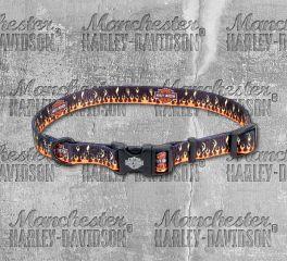 Harley-Davidson® Adjustable Flames Bar & Shield® Dog Collar, Nostalgic Art H6921-H-FHD26