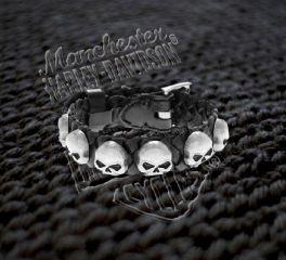 Harley-Davidson® Men's Antique Willie G Skull Muerto Cuff, OkisOnent GmbH HDMCU10788
