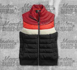 Harley-Davidson® Women's Striped Puffer Vest 97487-19VW
