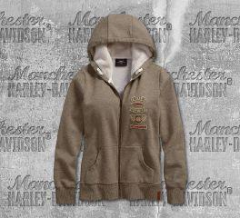 Harley-Davidson® Women's Sherpa Fleece Lined Hoodie 96373-19VW