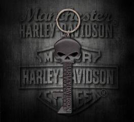 Harley-Davidson® Willie G Skull Skeleton Key Bottle Opener Key Chain, Global Products, Inc. HDKY12406