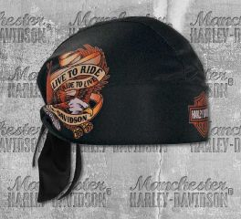 Harley-Davidson® Men's Live To Ride Eagle Head Wrap, Global Products, Inc. HW00930