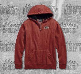 Harley-Davidson® Men's Red Engine Print Hoodie 96687-19VM