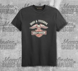Harley-Davidson® Men's Iron & Freedom Slim Fit Short Sleeve Tee 99200-19VM