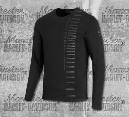 Harley-Davidson® Men's High Density Print Long Sleeve Slim Fit Tee 99209-19VM