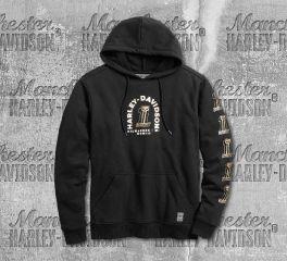 Harley-Davidson® Men's No. 1 Skull Slim Fit Pullover Hoodie 99218-19VM