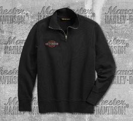 Harley-Davidson® Men's Felt Letter 1/4-Zip Slim Fit Pullover 99289-19VM