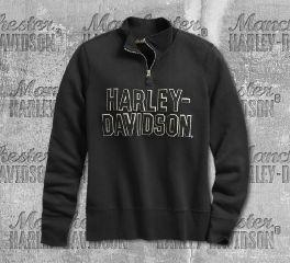 Harley-Davidson® Women's Felt Letter 1/4-Zip Pullover 99286-19VW