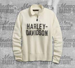 Harley-Davidson® Women's Felt Letter 1/4-Zip Pullover 99224-19VW