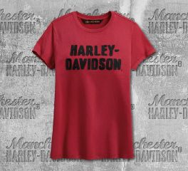 Harley-Davidson® Women's Chain Stitched Short Sleeve Tee 99002-19VW