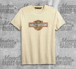 Harley-Davidson® Men's Crackle Logo Slim Fit Short Sleeve Tee 99001-19VM
