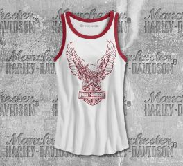 Harley-Davidson® Women's Retro Eagle Slim Fit Tank 99227-19VW