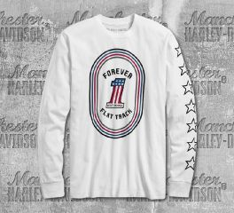 Harley-Davidson® Men's No. 1 Flat Track Slim Fit Long Sleeve Tee 99211-19VM