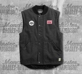 Harley-Davidson® Men's Quilted Slim Fit Workwear Vest 98416-19VM