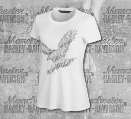 Harley-Davidson® Women's Metallic Embroidered Short Sleeve Tee 99280-19VW