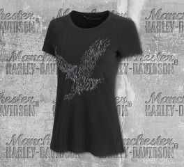 Harley-Davidson® Women's Metallic Embroidered Short Sleeve Tee 99279-19VW