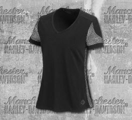 Harley-Davidson® Women's 3D Mesh Accent Short Sleeve Tee 99235-19VW
