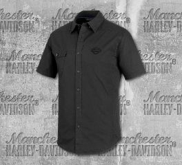 Harley-Davidson® Men's Performance Vented Stretch Slim Fit Shirt 99193-19VM