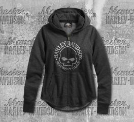Harley-Davidson® Women's Metallic Skull Long Sleeve Hoodie 99239-19VW