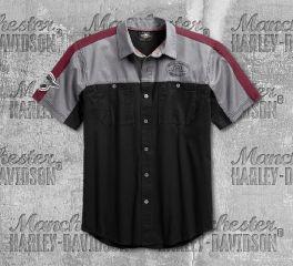 Harley-Davidson® Men's Performance Vented Winged Logo Woven Shirt 99156-19VM