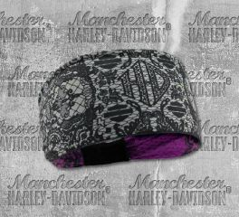 Harley-Davidson® Women's Lace Skull Reversible Headband, Global Products, Inc. HP29180
