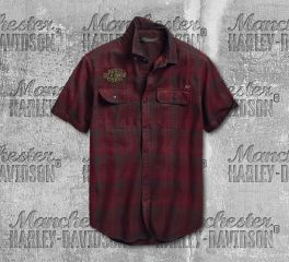 Harley-Davidson® Men's No. 1 Eagle Slim Fit Short Sleeve Shirt 96648-19VM